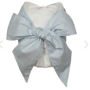 Beaufort Bonnet Buckhead Blue Bow Swaddle